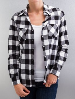 Urban Classics Blouse & Chemise Ladies Checked Flanell noir