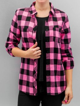 Urban Classics Blouse/Tunic Ladies Turnup Checked Flanell black