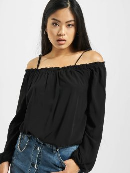Urban Classics Blouse Cold Shoulder zwart