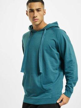 Urban Classics Bluzy z kapturem Garment Washed Terry turkusowy