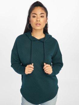 Urban Classics Bluzy z kapturem Quilt Oversize zielony