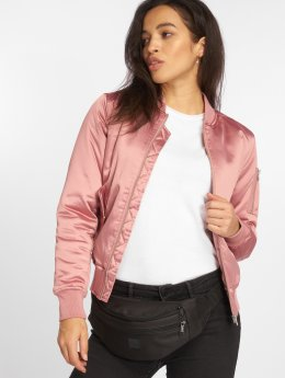Urban Classics Bomber jacket Satin Bomber rose