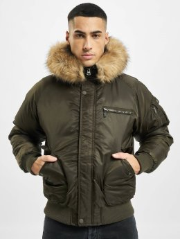 Urban Classics Bomber Hooded Heavy Fake Fur Bomber olive