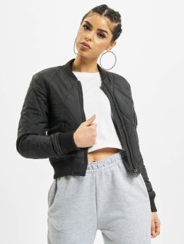Urban Classics Bomberjack Diamond Quilt Short zwart