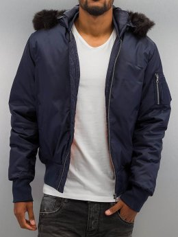 Urban Classics Bomberjacke Hooded Basic blau