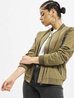 Urban Classics Ladies Peached Bomber Jacket Olive