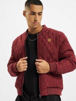 Urban Classics Bundy na přechodné roční období Diamond Quilt Nylon červený