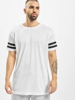 Urban Classics Camiseta Stripe Mesh blanco