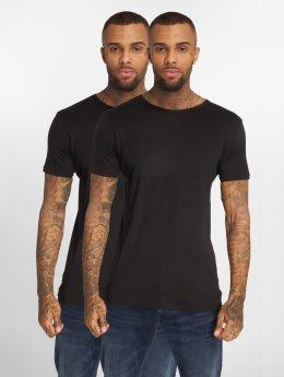 Urban Classics Camiseta 2-Pack Seamless negro