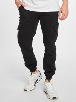 Urban Classics Cargobroek Washed Cargo Twill Jogging zwart
