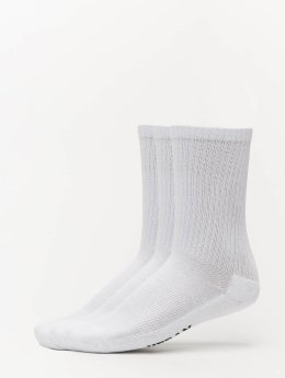 Urban Classics Chaussettes 3-Pack Logo Sport blanc