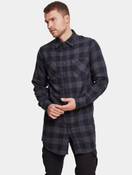 Urban Classics Chemise Long Checked Flanell noir