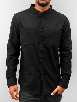 Urban Classics Chemise Low Collar Flanell noir