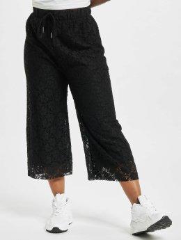 Urban Classics Chinot/Kangashousut Laces Culotte musta
