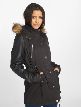 Urban Classics Coats Leather Imitation black