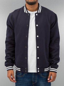 Urban Classics College Jacke College Sweatjacket blau