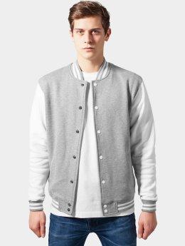 Urban Classics Männer College Jacke 2-Tone College Sweatjacket in grau