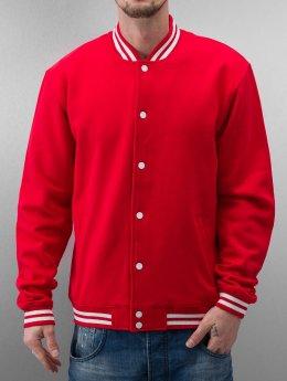 Urban Classics College Jacke College Sweatjacket rot