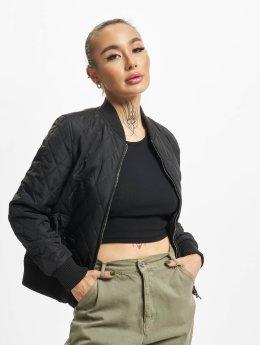 Urban Classics College Jackets Diamond Quilt czarny