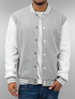 Urban Classics Collegetakit 2-Tone College Sweatjacket harmaa