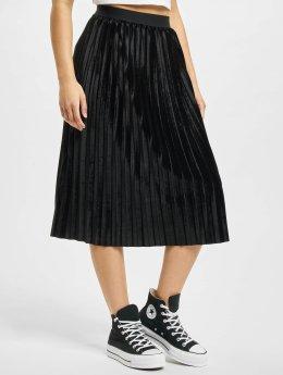 Urban Classics Falda Velvet Plisse negro