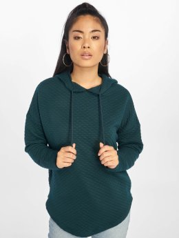 Urban Classics Felpa con cappuccio Quilt Oversize verde