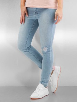 Urban Classics Højtaljede bukser Ladies High Waist blå