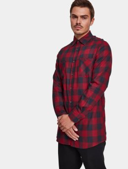 Urban Classics Hemd Long Checked Flanell schwarz