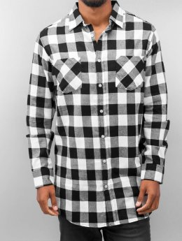 Urban Classics Hemd Long Checked Flanell schwarz