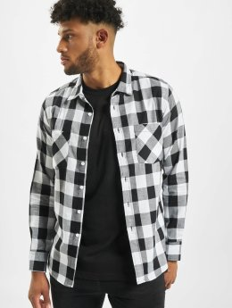 Urban Classics Hemd Checked Flanell weiß