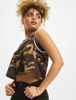 Mesh Crop Top Woodland Camo/Black/White