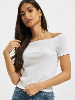 Urban Classics Hihattomat paidat Off Shoulder Rib valkoinen