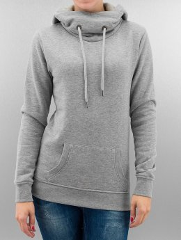 Urban Classics Hoody High Neck grau