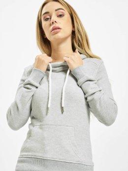 Urban Classics Hoody Melange Shoulder Quilt grau