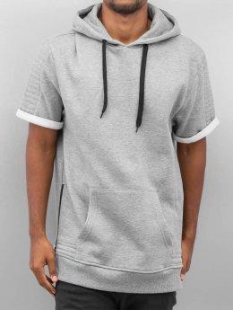 Urban Classics Hoody Short Sleeve Side grau