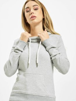 Urban Classics Hoody Melange Shoulder Quilt grijs