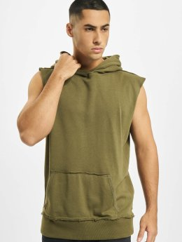 Urban Classics Hoody Open Edge Sleeveless olijfgroen