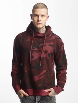 Urban Classics Hoody High Neck Camo rood