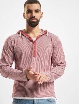 Urban Classics Hoody Fine Stripe Button Jersey rot