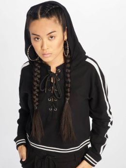 Urban Classics Hoody Lace Up schwarz