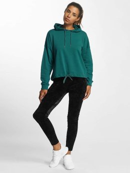 Urban Classics Frauen Hoody Oversized Gathering in türkis