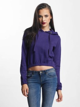 Urban Classics Frauen Hoody Interlock Short in violet