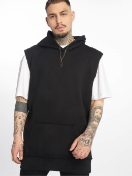 Urban Classics Hoody Open Edge Sleeveless zwart
