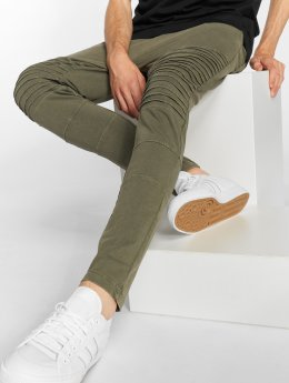 Urban Classics Jogging Acid Wash Terry Biker olive