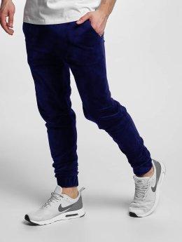 Urban Classics joggingbroek Velvet blauw