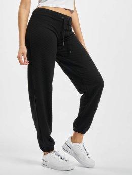 Urban Classics joggingbroek Quilt zwart