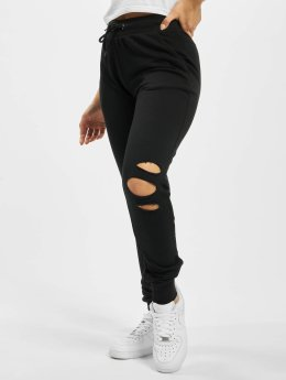 Urban Classics joggingbroek Cutted Terry zwart