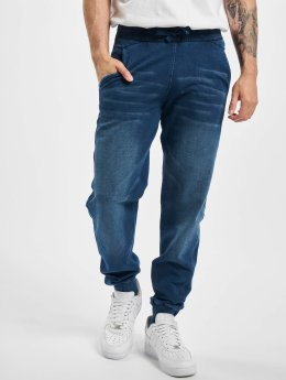 Urban Classics Joggingbyxor Denim blå