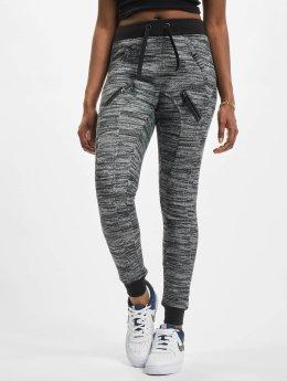 Urban Classics Jogginghose Fitted Melange Zip schwarz
