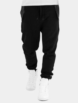 Urban Classics Jogginghose Side Zip Leather Pocket schwarz